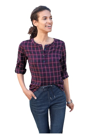 Bluse im modernen Karomuster kaufen