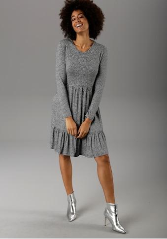 Aniston CASUAL Jerseykleid, mit trendigem Minimal-Print kaufen