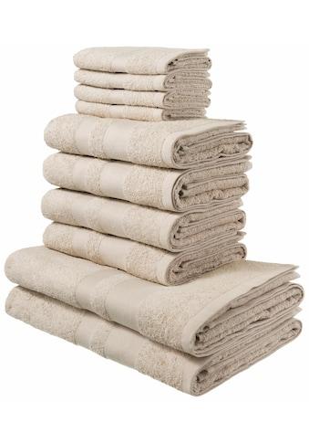 my home Handtuch Set »Vanessa«, mit abgesetzter Bordüre kaufen