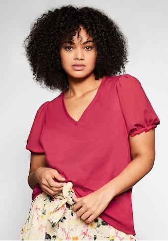 Sheego T-Shirt, mit kurzen Puffärmeln kaufen
