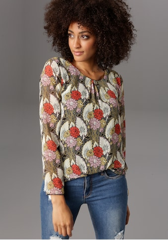Aniston SELECTED Schlupfbluse, im bunten Blumendruck kaufen