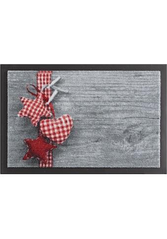 HANSE Home Fussmatte »Stern mit Herz«, rechteckig, 7 mm Höhe, Schmutzfangmatte,... kaufen