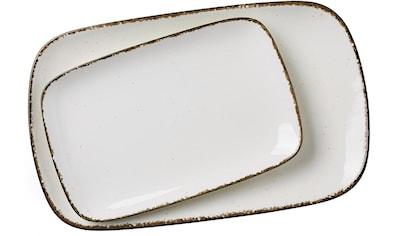"""Ritzenhoff & Breker Servierplatte """"Casa"""", Steinzeug, (Set, 2 - tlg., 1 Platte gross, 1 Platte klein) kaufen"""