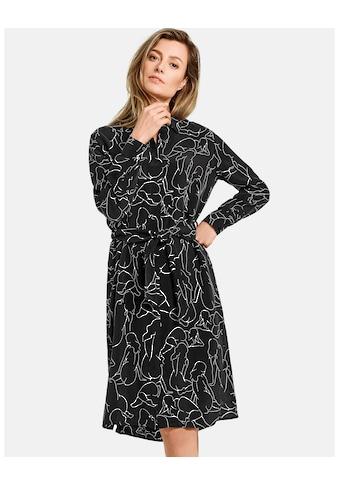 GERRY WEBER Kleid Gewebe »Hemdblusenkleid mit Art - Print« kaufen