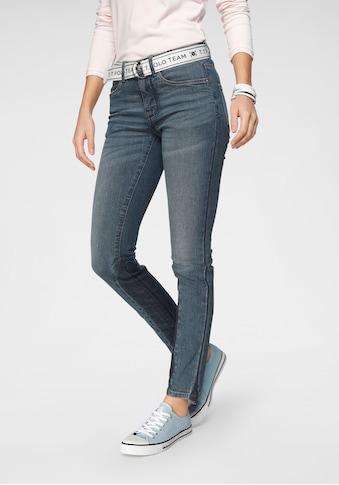 TOM TAILOR Polo Team Slim-fit-Jeans, (Set, 2 tlg., mit abnehmbarem Gürtel), mit... kaufen