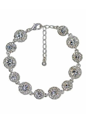 J.Jayz Armband »glitzernde Blumenelement, glamourös« kaufen