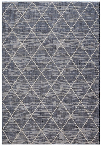 Home affaire Teppich »Dubai«, rechteckig, 3 mm Höhe, Flachgewebe, Rauten Design, Wohnzimmer kaufen
