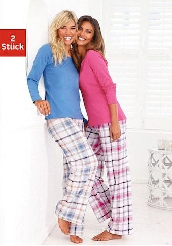 Arizona Schlafanzug, (2 Stück), mit Hose im Karodesign kaufen