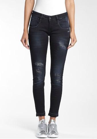 GANG Skinny-fit-Jeans »Nena«, mit leicht ausgefransten Saumabschluss kaufen