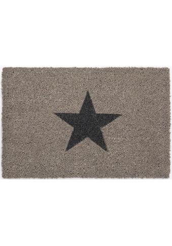 Fussmatte, »Kokos Star«, Andiamo, rechteckig, Höhe 15 mm, maschinell zusammengesetzt kaufen