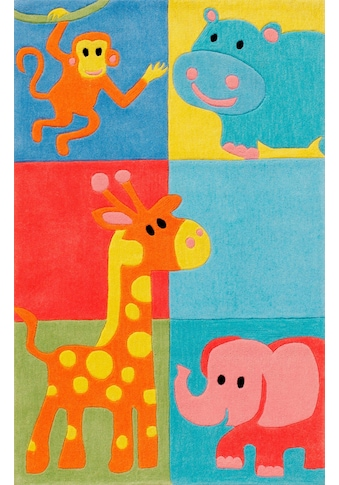 Böing Carpet Kinderteppich »Kids 1365«, rechteckig, 10 mm Höhe, Konturenschnitt,... kaufen