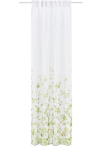 Leonique Gardine »Kaya«, transparent, mit Blumendesign kaufen