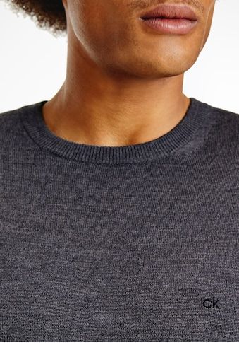Calvin Klein Rundhalspullover »SUPERIOR WOOL CREW NECK SWEATER«, Feinstrick kaufen