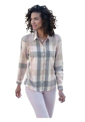 Bluse im zarten Karodessin kaufen