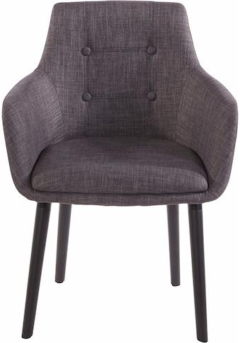 Armlehnstuhl »Bradford«, (1 oder 2 Stück), Bezug in Webstoff, Gestell aus Eiche Massivholz kaufen