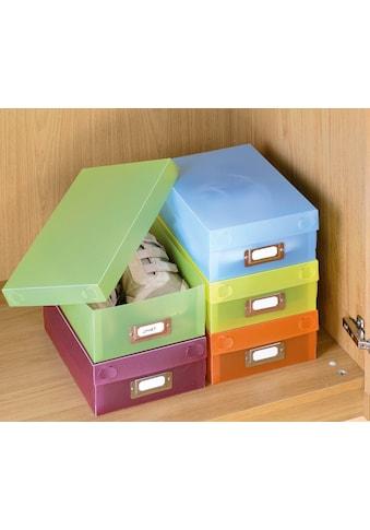 WENKO Aufbewahrungsbox, (Set, 5 St.), mit Beschriftungsfeld kaufen