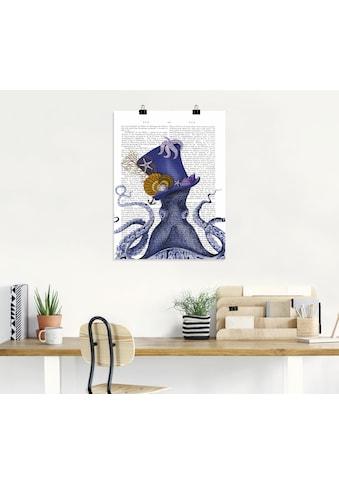 Artland Wandbild »Oktopus mit Hut« kaufen