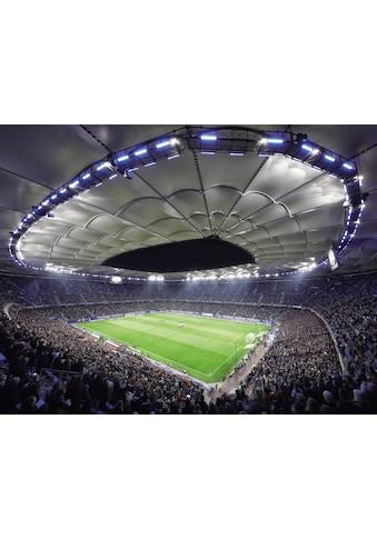 Vliestapete »Hamburger SV im Stadion bei Nacht«, kaufen