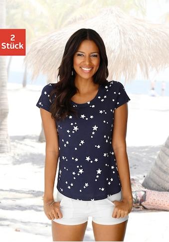 Vivance T-Shirt, mit schönem Sterne-Druck kaufen