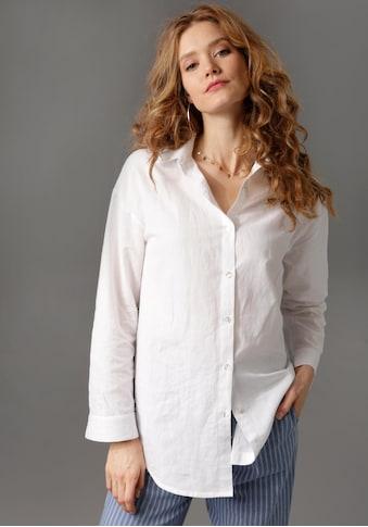 Aniston CASUAL Hemdbluse, mit Leinen kaufen