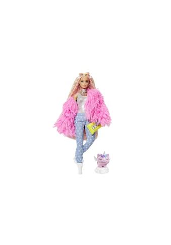 Barbie Spielfigur »Extra mit flauschiger rosa Jacke« kaufen