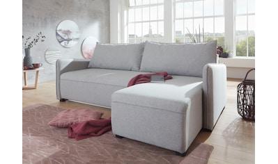 ATLANTIC home collection Ecksofa, mit Federkern, Bettfunktion, Bettkasten und... kaufen