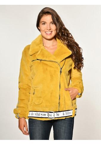 Maze Fake Fur Jacke mit asymmetrischem Reissverschluss »Malibu« kaufen