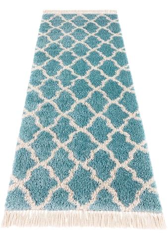 MINT RUGS Hochflor-Läufer »Pearl«, rechteckig, 35 mm Höhe, pastell Farben mit Fransen kaufen