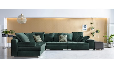 INOSIGN Ecksofa »Vale«, incl. Couchtisch, Steppung im Sitzbereich, Federkern kaufen