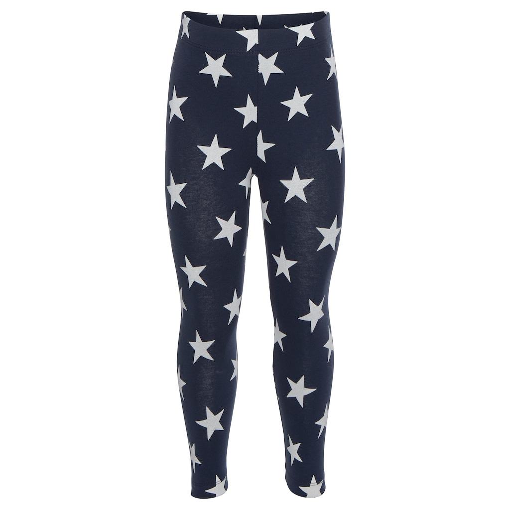 KIDSWORLD Leggings, (Packung, 3 tlg.), in Uni, mit Ringel oder Sternen