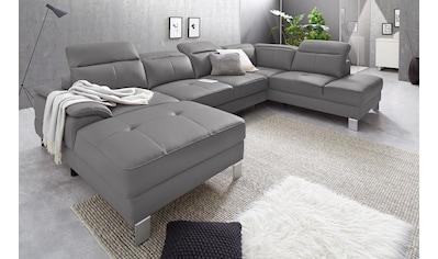 exxpo - sofa fashion Wohnlandschaft, inkl. Kopf- bzw. Rückenverstellung, wahlweise mit... kaufen