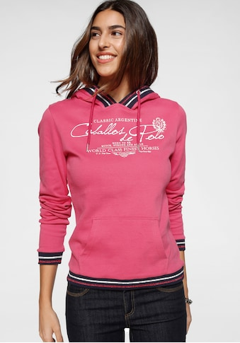 TOM TAILOR Polo Team Kapuzensweatshirt, mit gestreiften Rippbündchen an Saum,... kaufen