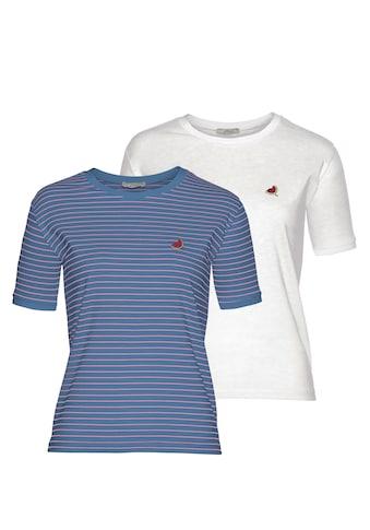 LTB T-Shirt »MALESO«, mit süsser Stickerei auf der Brust kaufen