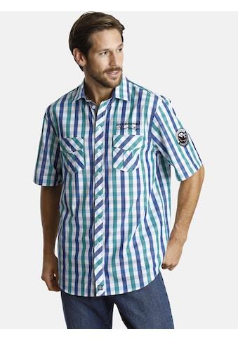 Jan Vanderstorm Kurzarmhemd »OLVAR«, Karohemd mit Komfortschnitt kaufen