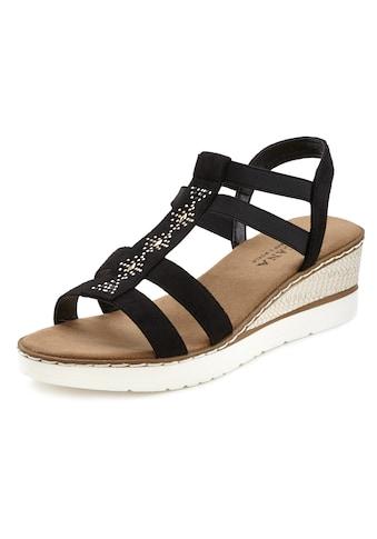 LASCANA Sandalette, mit Keilabsatz und dekorativen Schmucksteinen kaufen