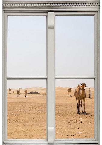 queence Wandsticker »Wüste mit Kamelen« kaufen