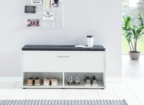 weiße Schuhbank