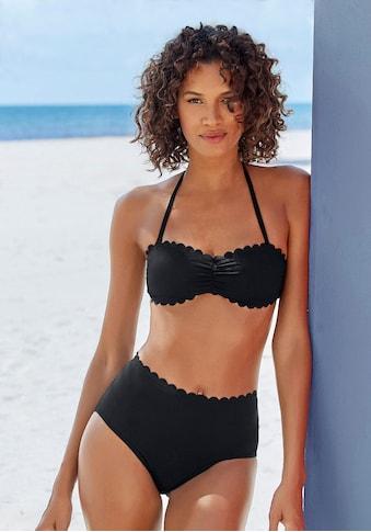 LASCANA Highwaist - Bikini - Hose »Scallop« kaufen