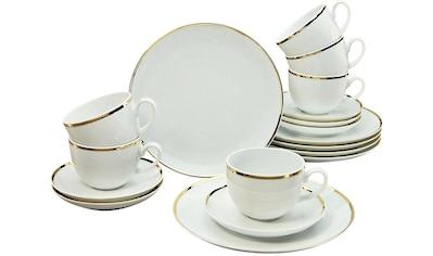 """Guido Maria Kretschmer Home&Living Kaffeeservice """"Goldfarbenen Line"""" (18 - tlg.), Porzellan kaufen"""