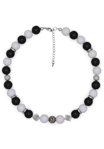 J.Jayz Collier »Perlenkette im schwarz  -  weiss Trend« kaufen