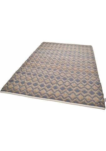 TOM TAILOR Teppich »Geometric«, rechteckig, 7 mm Höhe, handgewebt, Wohnzimmer kaufen
