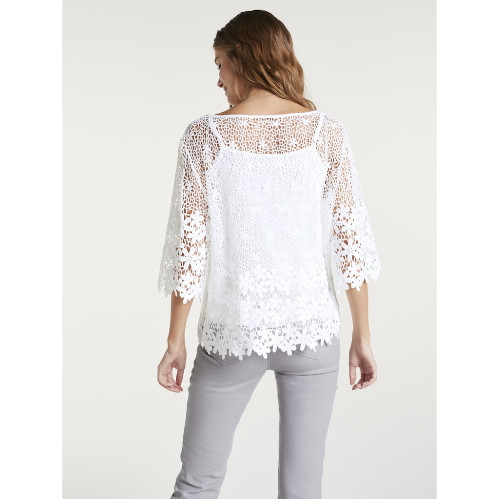 LINEA TESINI by Heine Spitzenbluse, mit speratem Top