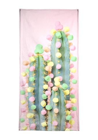 """Strandtuch """"Marshmallow Cactus in Bloom"""", Juniqe kaufen"""