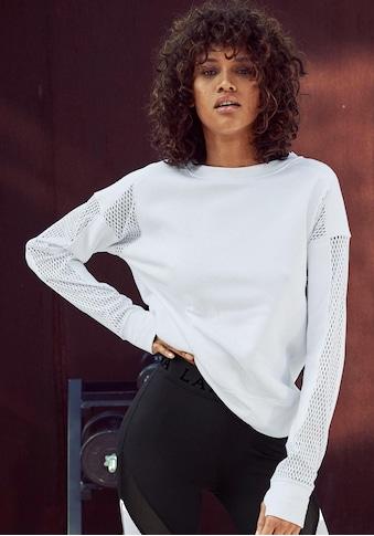 LASCANA ACTIVE Sweatshirt »Technical Red«, mit Mesh-Einsätzen und Cutout kaufen