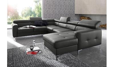 COTTA Polstergarnitur, (Set), Set: bestehend aus Wohnlandschaft und Hocker, Sofa... kaufen