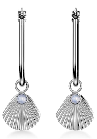 ROSEFIELD Paar Creolen »The Raye, JPHSCS-J257«, mit Strass-Kristallen und abnehmbaren Einhängern kaufen