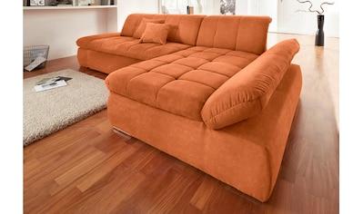 DOMO collection Ecksofa »NMoric«, XXL, mit Recamiere, wahlweise mit Bettfunktion kaufen