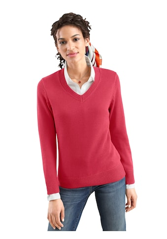 Casual Looks Pullover mit streckendem V - Ausschnitt kaufen