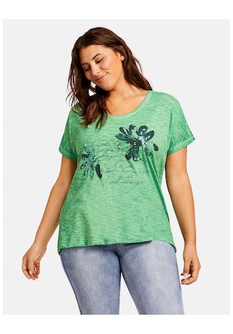 Samoon T - Shirt Kurzarm Rundhals »Shirt mit verziertem Front - Print« kaufen