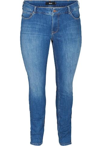 Zizzi Slim-fit-Jeans, mit normaler Leibhöhe kaufen